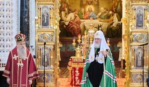 Митрополит Варсонофий сослужил Святейшему Патриарху Кириллу
